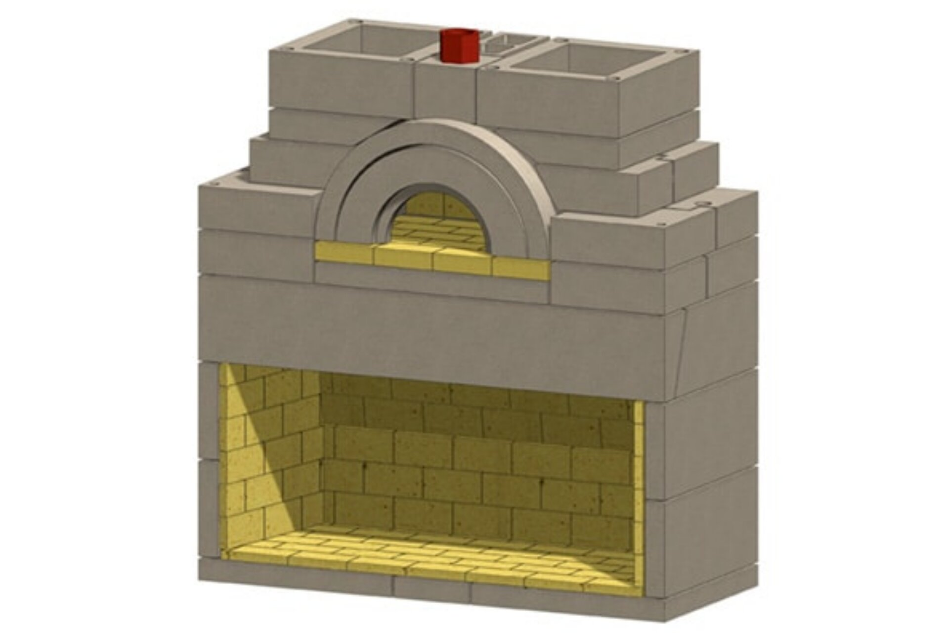 Caminetto Medeo Masonry Pizza Oven Fireplace Kit