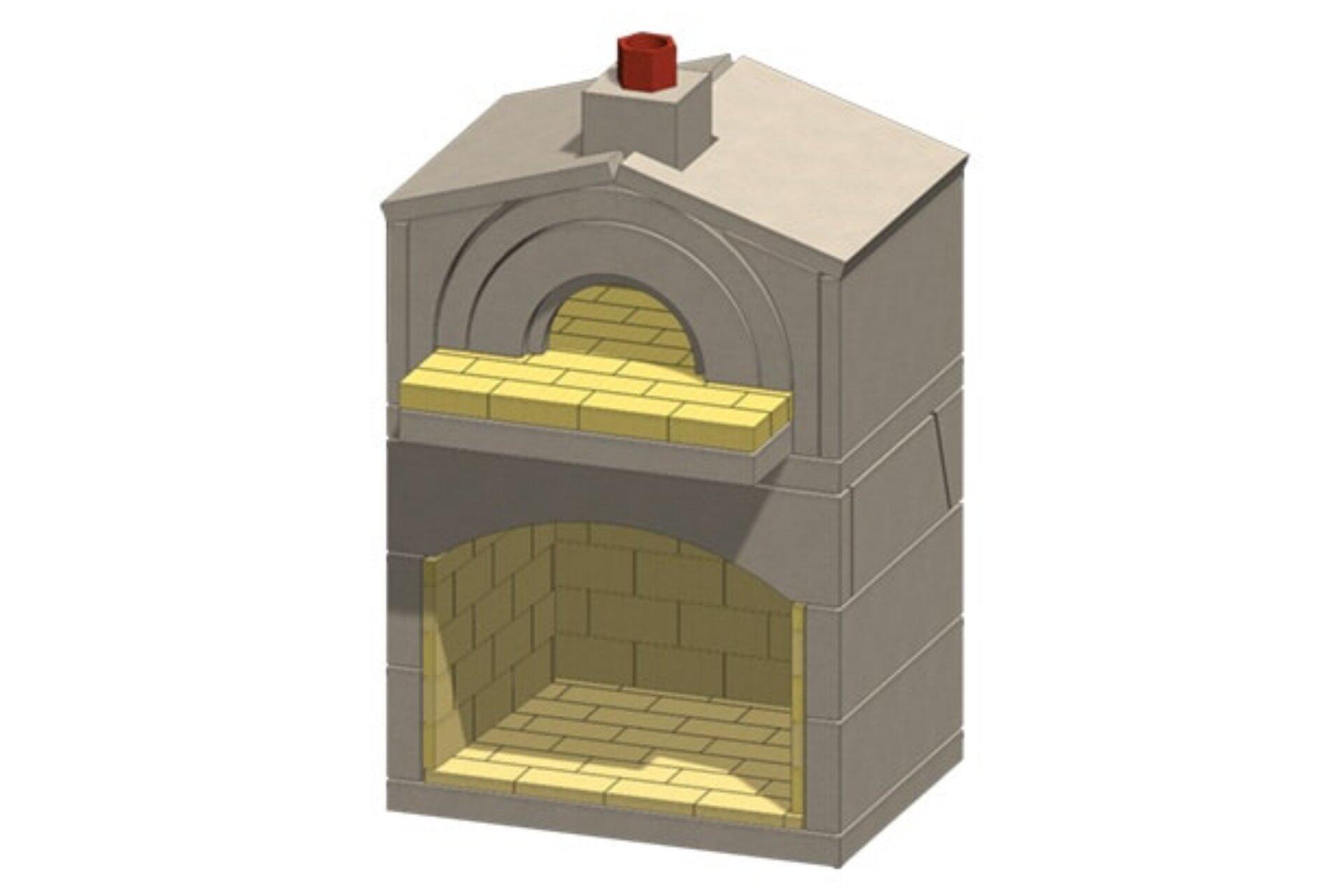 Mezzo Masonry Pizza Oven Fireplace Kit