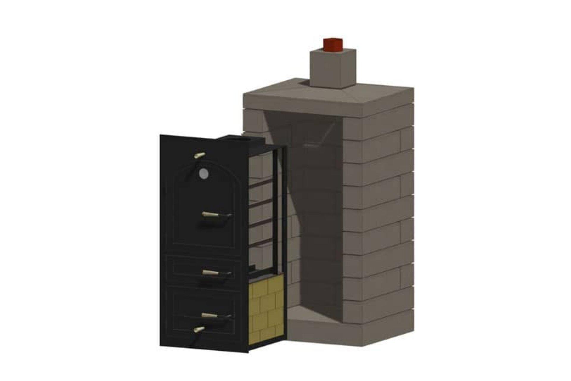 Little Pig Smoker Masonry Enclosure Kit