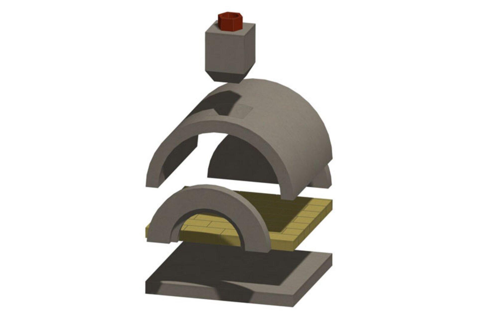 Mezzo Masonry Pizza Oven Kit